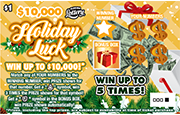1435-$1 $10K HOLIDAY LUCK