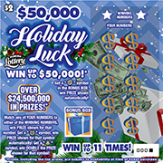 1436-$2 $50K HOLIDAY LUCK