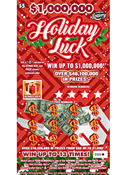 1437-$5 $1M HOLIDAY LUCK